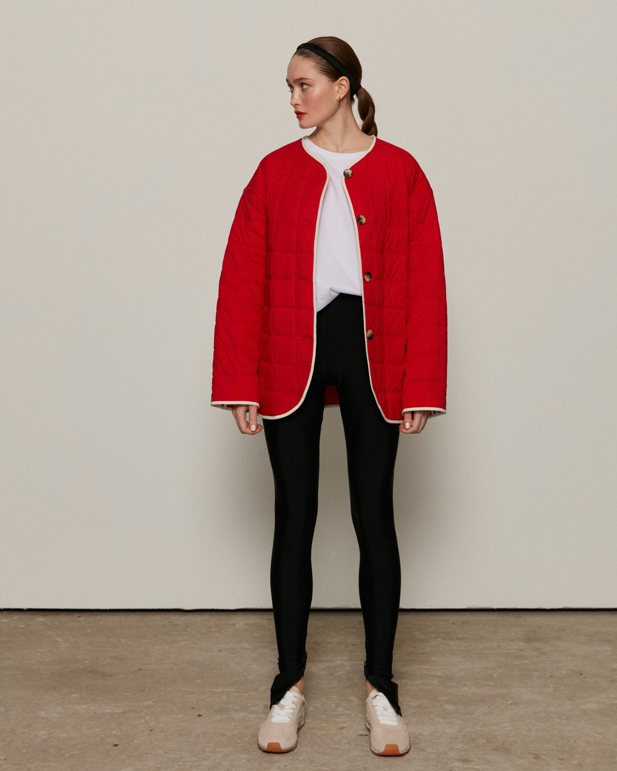 Quilted jacket, Red, S