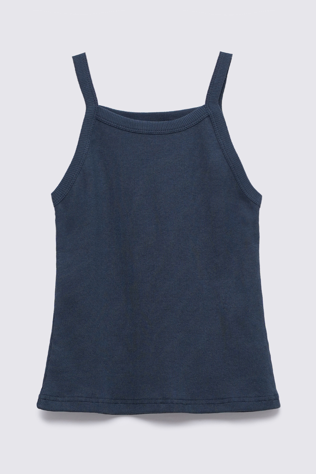 Tank top with thin straps, Dark grey, S