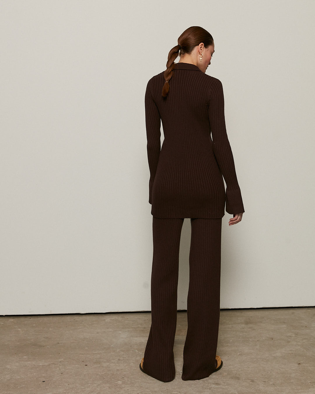 Knitted trousers, Brown, XS