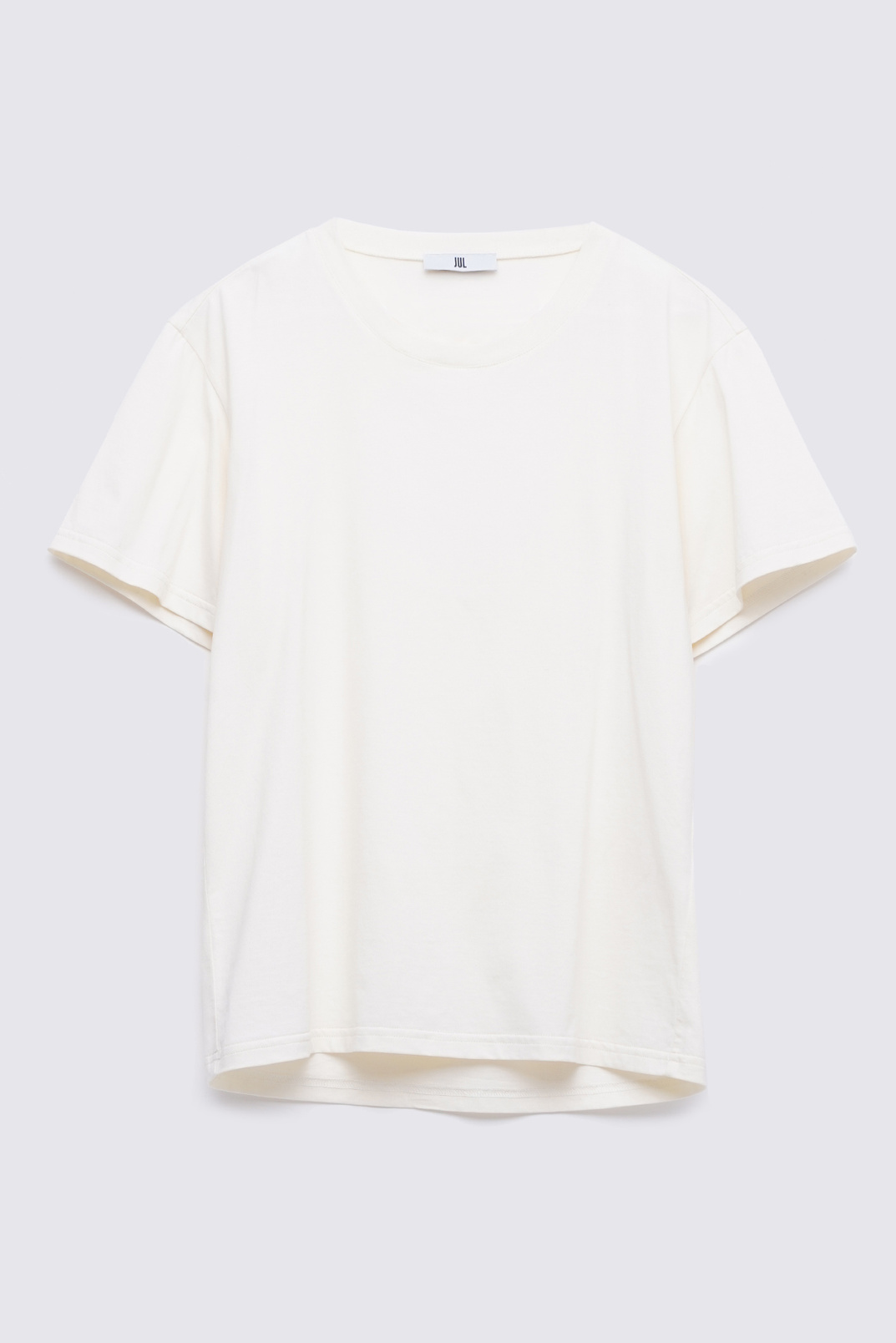 T-shirt with a neckline on the back, Milky, S