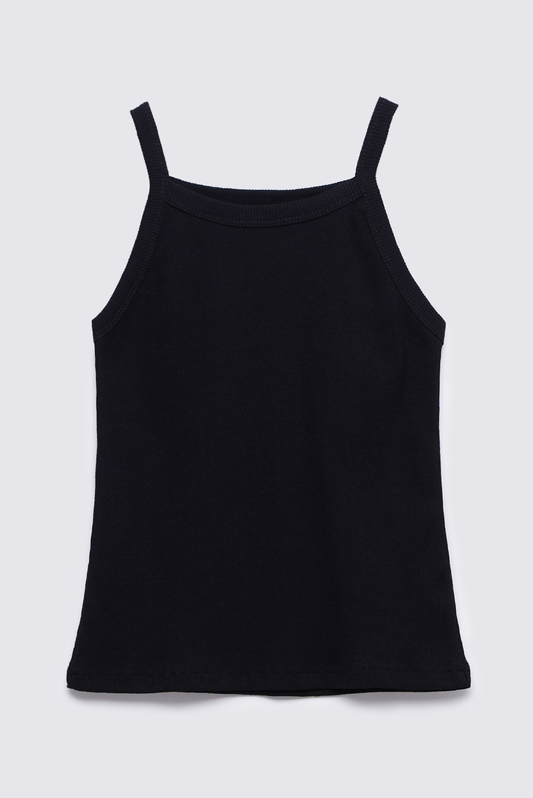 Tank top with thin straps, Black, M